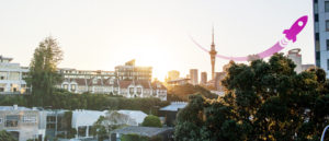 Auckland sky tower rocket