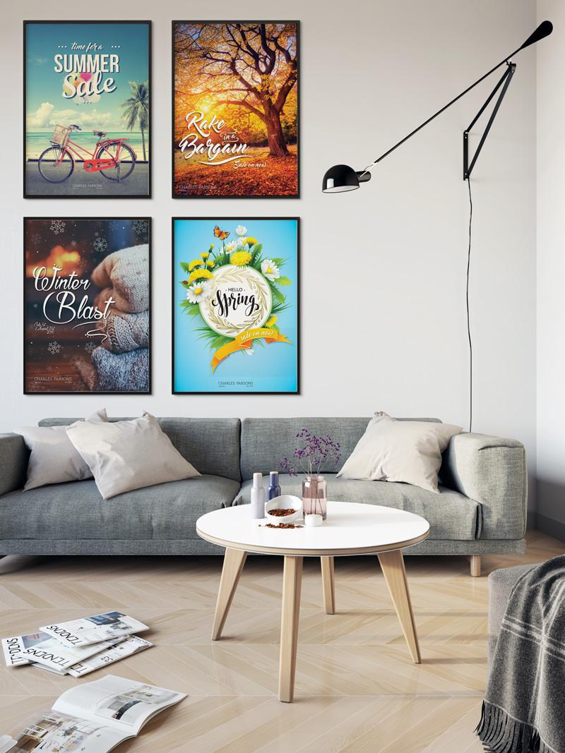 seasonal promotional posters